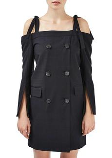 Topshop Boutique Off the Shoulder Blazer Dress