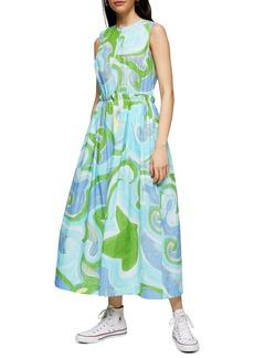 Topshop Boutique Print Maxi Dress