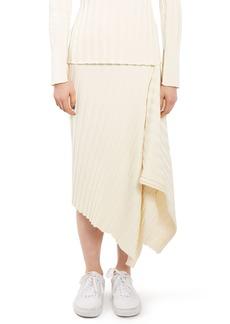 Topshop Boutique Ribbed Drape Skirt