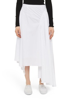 Topshop Boutique Ruched Asymmetrical Skirt