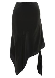 Topshop Boutique Silk Knot Side Skirt