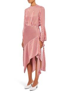 Topshop Boutique Stripe Knot Midi Skirt
