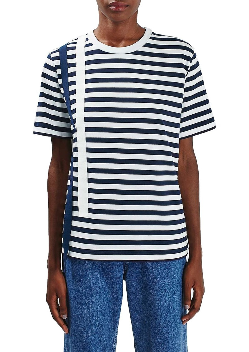 Topshop Boutique Taped Stripe Tee