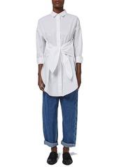 Topshop Boutique Tie Front Tunic Shirt
