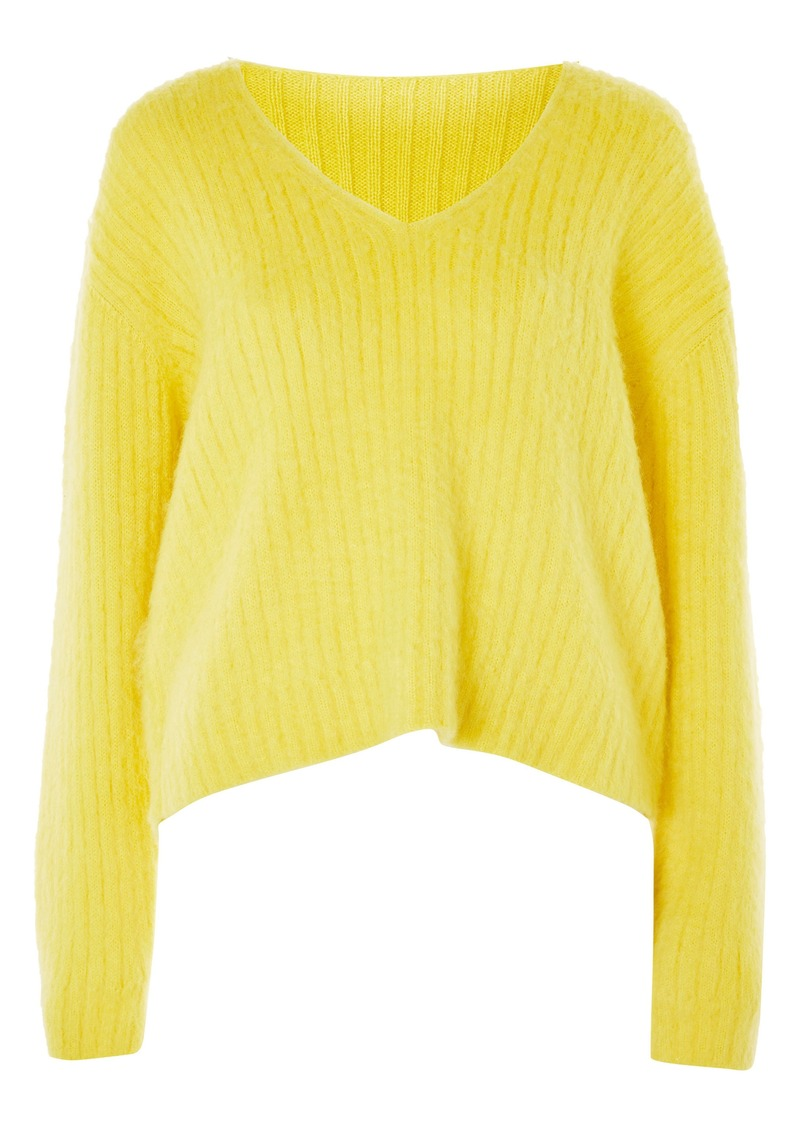 Topshop Boutique V-Neck Rib Sweater