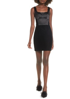 Topshop Velvet Minidress