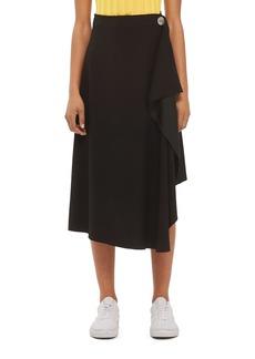 Topshop Boutique Waterfall Midi Skirt