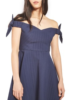 Topshop Bow Off the Shoulder Dress
