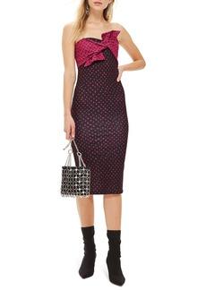 Topshop Bow Twist Midi Dress