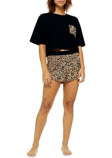 Topshop Boxy Leopard Print Pajamas