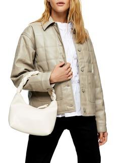 Topshop Boxy Quilt Faux Leather Jacket
