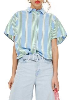 Topshop Boxy Stripe Shirt