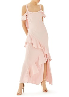 Topshop Bride Cold Shoulder Ruffle Gown