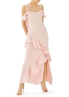 Topshop Bride Cold Shoulder Ruffle Gown