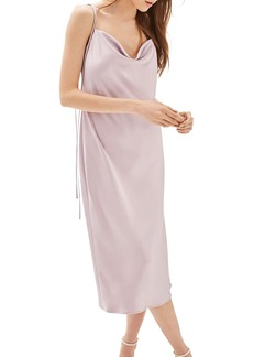 Topshop Bride Cowl Neck Midi Dress