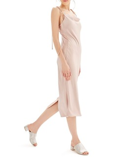 Topshop Bride Cowl Neck Midi Dress