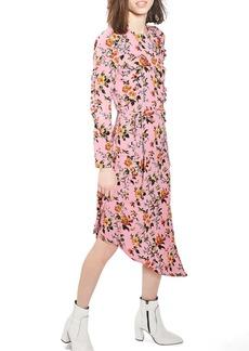 Topshop Brit Ruffle Midi Dress