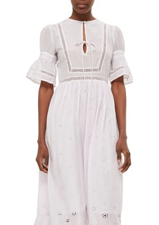 Topshop Broderie Anglaise Cotton Dress