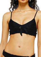 Topshop Broderie Anglaise Tie Bikini Top