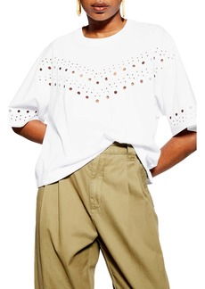 Topshop Broderie Boxy Tee