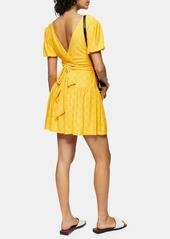 Topshop Broderie Faux Wrap Minidress