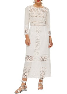Topshop Broderie Inset Maxi Dress