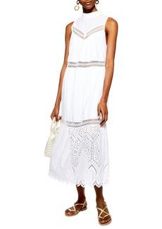 Topshop Broderie Maxi Dress