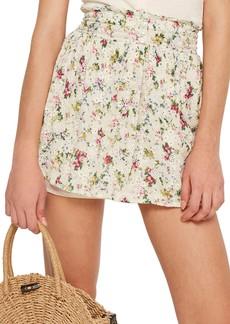 Topshop Broderie Print Miniskirt