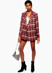 Topshop Brushed Check Blazer