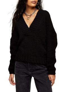 Topshop Brushed V-Neck Sweater