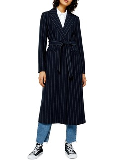 Topshop Bunty Stripe Coat