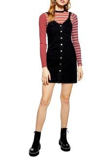Topshop Button Front Denim Body-Con Dress