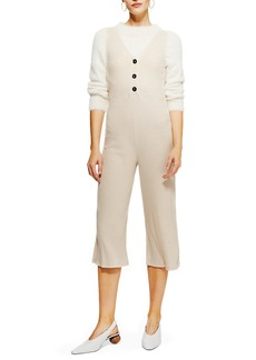 Topshop Button Front Jumpsuit