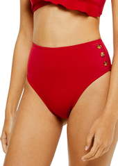Topshop Button High Waist Bikini Bottoms