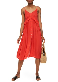 Topshop Button-Up Cover-Up Dress