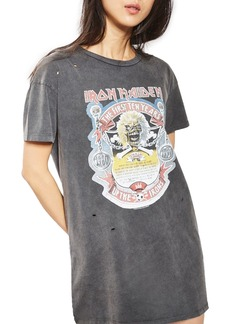 Topshop by And Finally Iron Maiden T-Shirt Dress