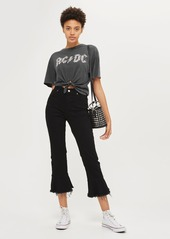 Topshop by And Finally Knot Crop AC/DC Tee