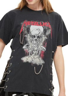 Topshop by And Finally Metallica Chained Tee