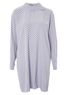Topshop by Boutique Fold Neck Spot Shift Dress