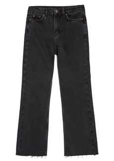 Topshop by Boutique Raw Hem Kick Flare Jeans