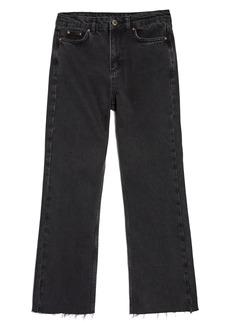 Topshop Boutique Raw Hem Kick Flare Jeans