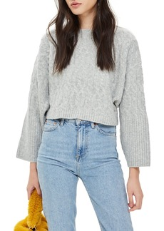 Topshop Cable Crop Sweater