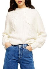Topshop Cable Knit Sweater