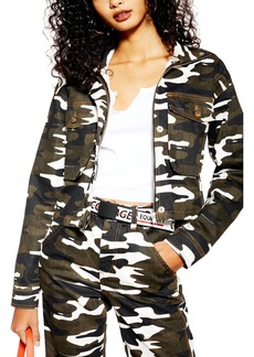 Topshop Camo Crop Jacket