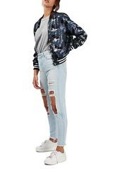 Topshop Camo Sequin Bomber Jacket