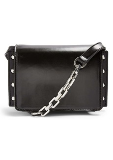 Topshop Casady Stud Faux Leather Crossbody Bag