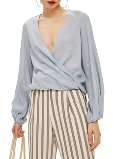 Topshop Casual Draped Top