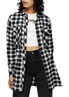 Topshop Casual Oversize Check Shirt