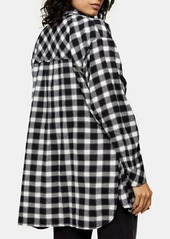 Topshop Casual Oversize Check Shirt
