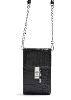 Topshop Catch Croc Embossed Crossbody Bag